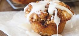 Muffins de rollo de canela
