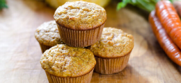 Muffins de zanahoria paleo